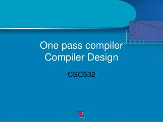 One pass compiler Compiler Design