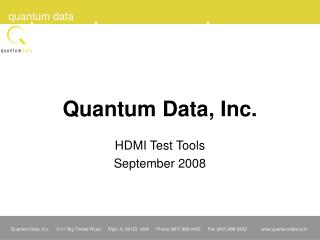 Quantum Data, Inc.
