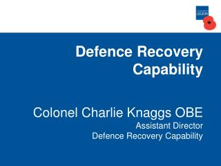Defence Recovery Capability Pipeline Overview as at 23 Apr 12