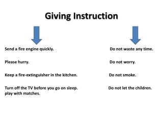 Giving Instruction