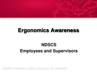 Ergonomics  Awareness