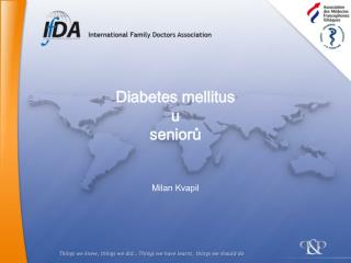 Diabetes mellitus u  seniorů