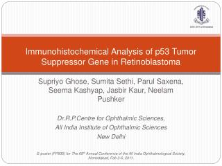 Immunohistochemical Analysis of p53 Tumor Suppressor Gene in Retinoblastoma