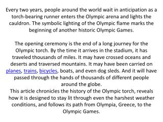 History of the Torch