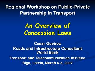 An Overview of Concession Laws
