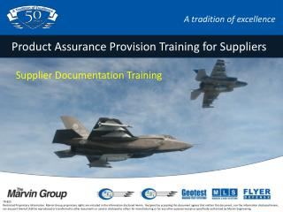 Product Assurance Provision Training for Suppliers