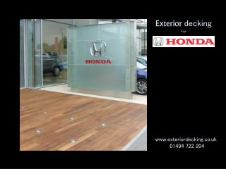 Exterior decking For