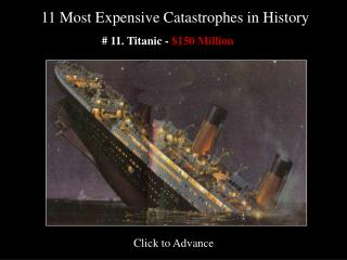 11 Most Expensive Catastrophes in History