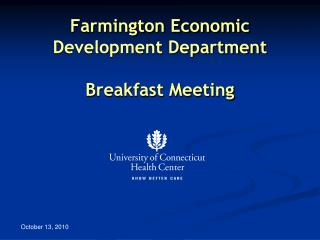 Farmington Economic Development Department Breakfast Meeting