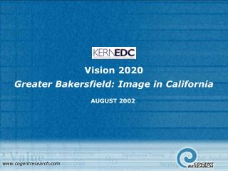 Vision 2020 Greater Bakersfield: Image in California