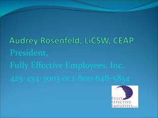 President,  Fully Effective Employees, Inc. 425-454-3003 or 1-800-648-5834