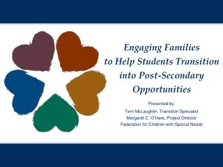 Engaging Families  t o Help Students Transition into Post-Secondary Opportunities Presented by: