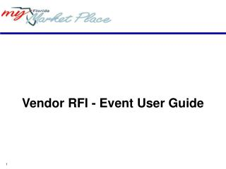 Vendor RFI - Event User Guide