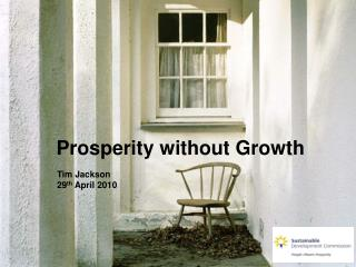 Prosperity without Growth
