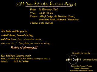 2014 Year  Refresher  Business Network