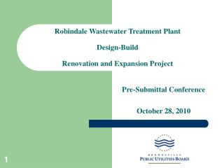 Robindale Wastewater Treatment Plant Design-Build Renovation and Expansion Project