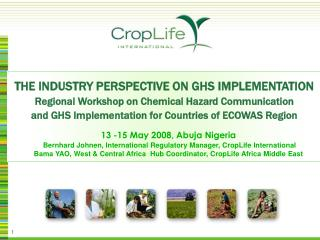 THE INDUSTRY PERSPECTIVE ON GHS IMPLEMENTATION