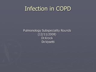 Infection in COPD