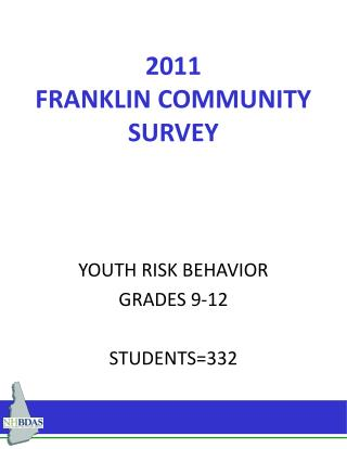 2011 FRANKLIN COMMUNITY SURVEY