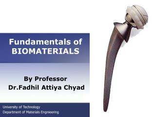 Fundamentals of BIOMATERIALS