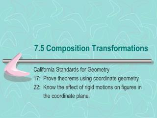 7.5 Composition Transformations