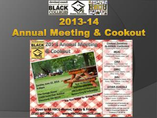 2013-14 Annual Meeting & Cookout