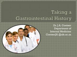 Taking a  Gastrointestinal History