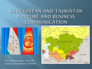 Kyrgyzstan and Tajikistan culture and business communication