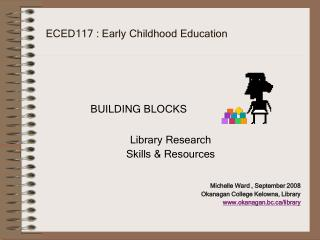 ECED117 : Early Childhood Education