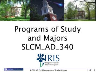 Programs of Study and Majors SLCM_AD_340