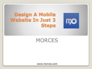Design mobile sites