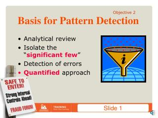 Basis for Pattern Detection