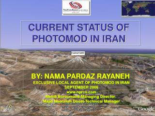 CURRENT STATUS OF  PHOTOMOD IN IRAN