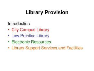 Library Provision