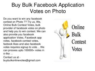 Buy Facebook Votes