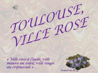TOULOUSE, VILLE ROSE