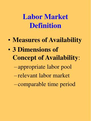 Labor Market Definition