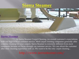 Residential Carpet, Steam and Upholstery Cleaning - Reno NV