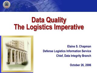 Data Quality The Logistics Imperative