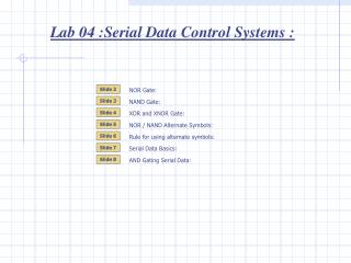 Lab 04 :Serial Data Control Systems :