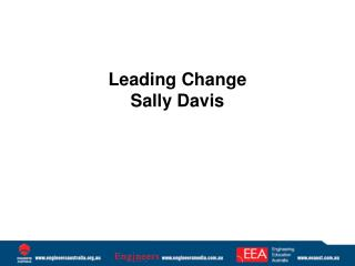 Leading Change Sally Davis