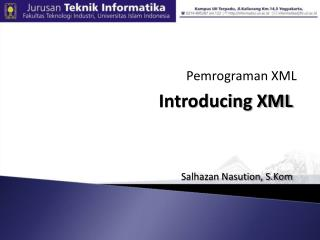 Introducing XML