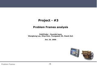 Project - #3 Problem Frames analysis PathFinder - Hyundai team