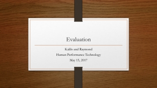The Human Performance Technology Model HPT