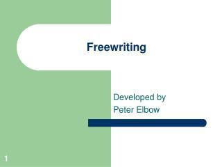 Freewriting