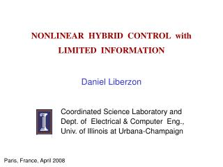 NONLINEAR  HYBRID  CONTROL  with   LIMITED  INFORMATION
