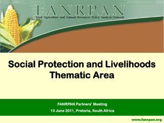 Social Protection and Livelihoods Thematic Area