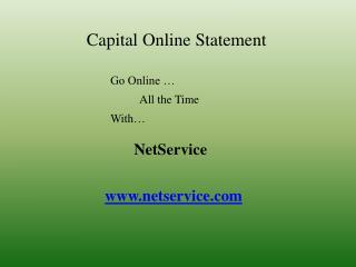 Capital Online Statement