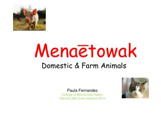 Mena?etowak Domestic & Farm Animals