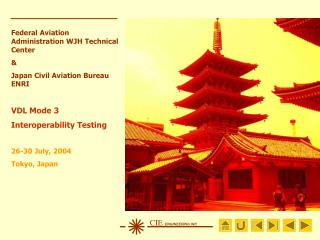 Federal Aviation Administration WJH Technical Center & Japan Civil Aviation Bureau ENRI